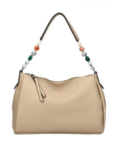 Valentina Madrid kabelka SHOPPER BEADS TAUPE 28059 VM28059_TE