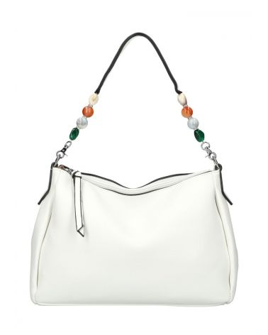 Valentina Madrid kabelka SHOPPER BEADS WHITE 28059 VM28059_WE