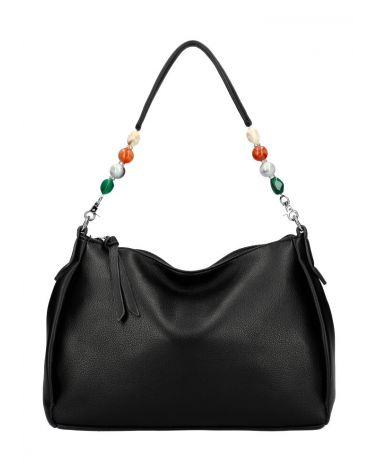 Valentina Madrid kabelka SHOPPER BEADS BLACK 28059 VM28059_BK