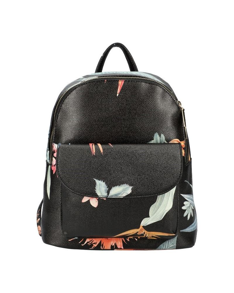 AM Montreux dámský batoh SPRING FLORAL BLACK 817 KR817_BK