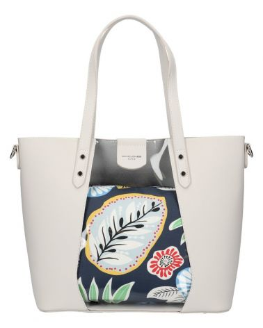 David Jones SET kabelka shopper FLORAL CREAM 6245 6245_CM
