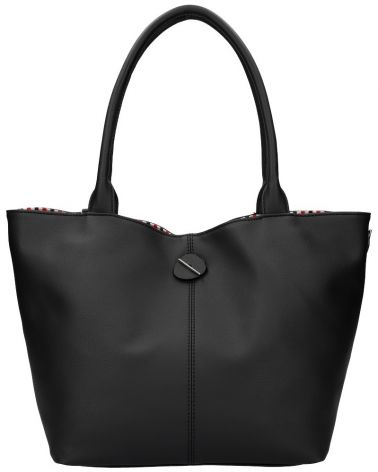 David Jones oboustranná kabelka shopper CHARIA STRIPES BLACK 5694 cm5694_BK