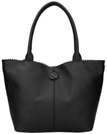 David Jones oboustranná kabelka shopper STRIPES BLACK 5694 cm5694_BK