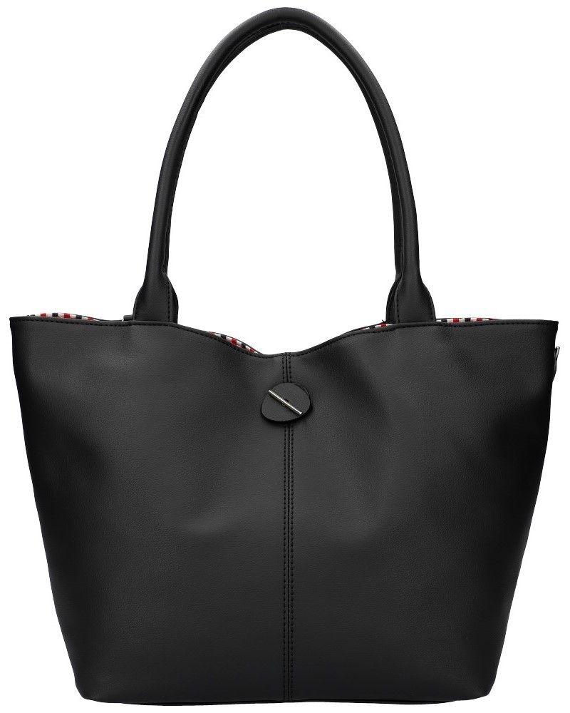 David Jones oboustranná kabelka shopper CHARIA STRIPES BLACK 5694 cm5694_BK