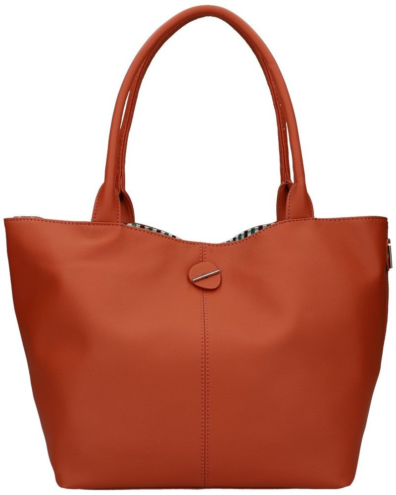 David Jones oboustranná kabelka shopper CHARIA STRIPES BROWN 5694 cm5694_BN