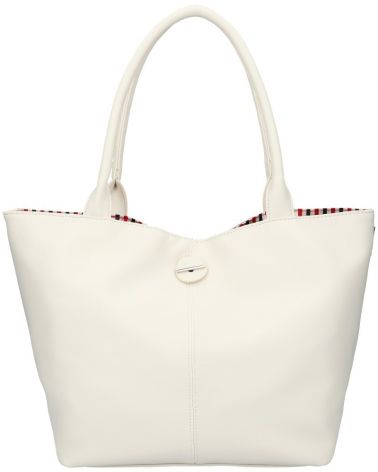 David Jones oboustranná kabelka shopper CHARIA STRIPES CREAM 5694 cm5694_CM