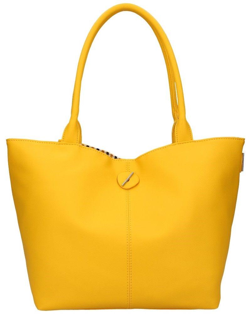 David Jones oboustranná kabelka shopper CHARIA STRIPES YELLOW 5694 cm5694_YW