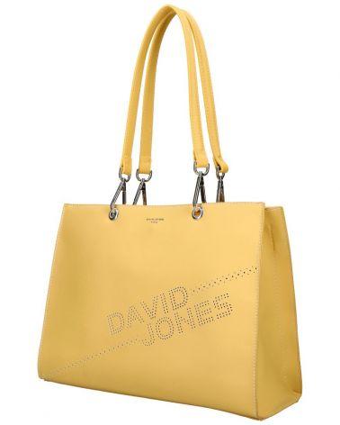 David Jones kabelka shopperka LASER LOGO YELLOW 6223 6223_YW