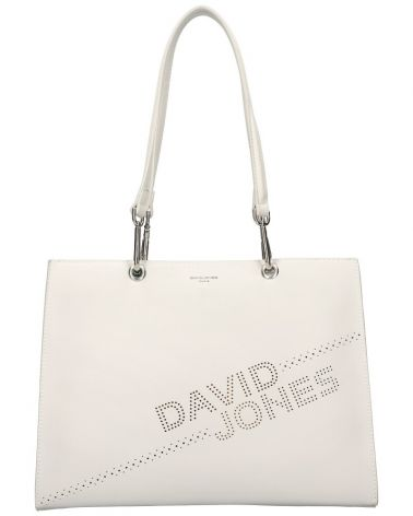 David Jones kabelka shopperka LASER LOGO CREAM 6223 6223_CM
