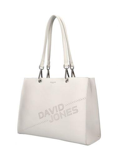 David Jones kabelka shopperka LASER LOGO CREAM 6223 6223_CM