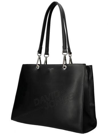David Jones kabelka shopperka LASER LOGO BLACK 6223 6223_BK
