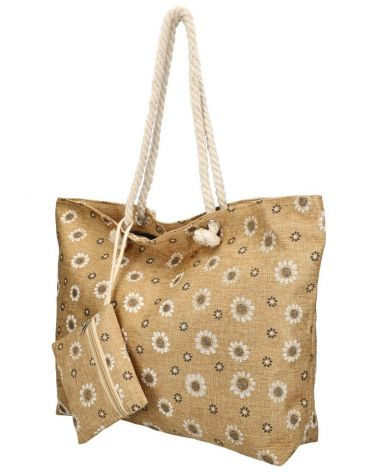 Sweet & Candy velká shopper taška BROWN BEACH 71 71-3_BN