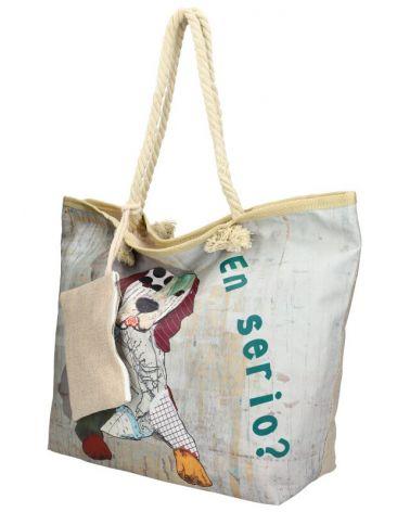 Sweet & Candy velká shopper taška GREY BEACH 13-1 KD13-1_GY