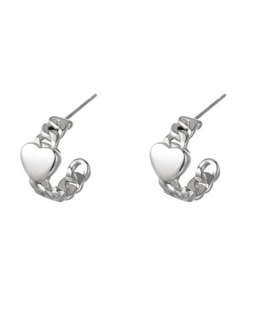 Dámské ocelové náušnice YEH CHAINED HEART Y0288690_SI