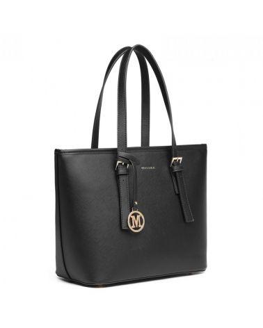 Miss Lulu kabelka shopper MINIMALIST BLACK 2054 LT2054_BK
