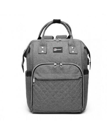Kono mateřský přebalovací batoh na kočárek šedý s USB 6705 E6705USBGY