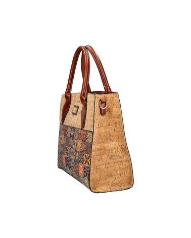 Korková kabelka do ruky i přes rameno AM CORK ALCA 019 SM019-1_BN