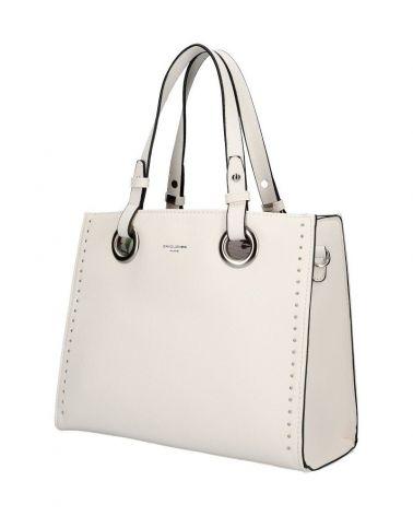 David Jones kabelka shopper RIVETS CELESTE WHITE 5784 CM5784_WE