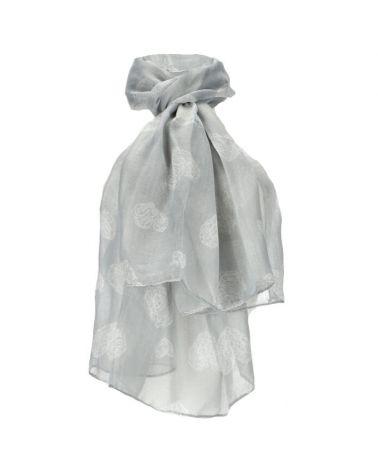Dámský šátek šedý HEARTS 201 WD201_GY