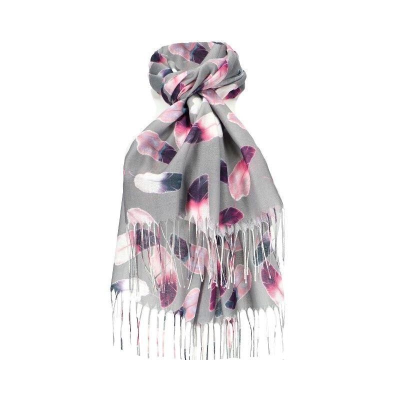 Dámský šátek šedý FEATHER 11038773_GY