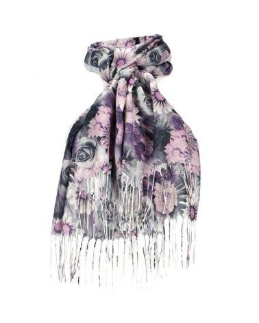 Dámský šátek šedý FLOWERS 11038759_PE