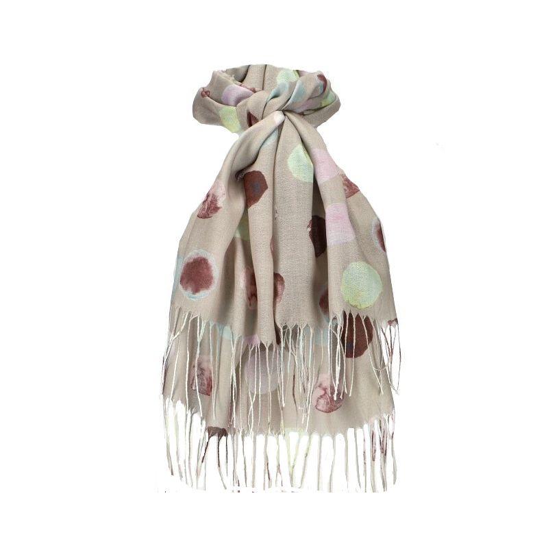 Dámský šátek béžový DOTTED 11038742_AT
