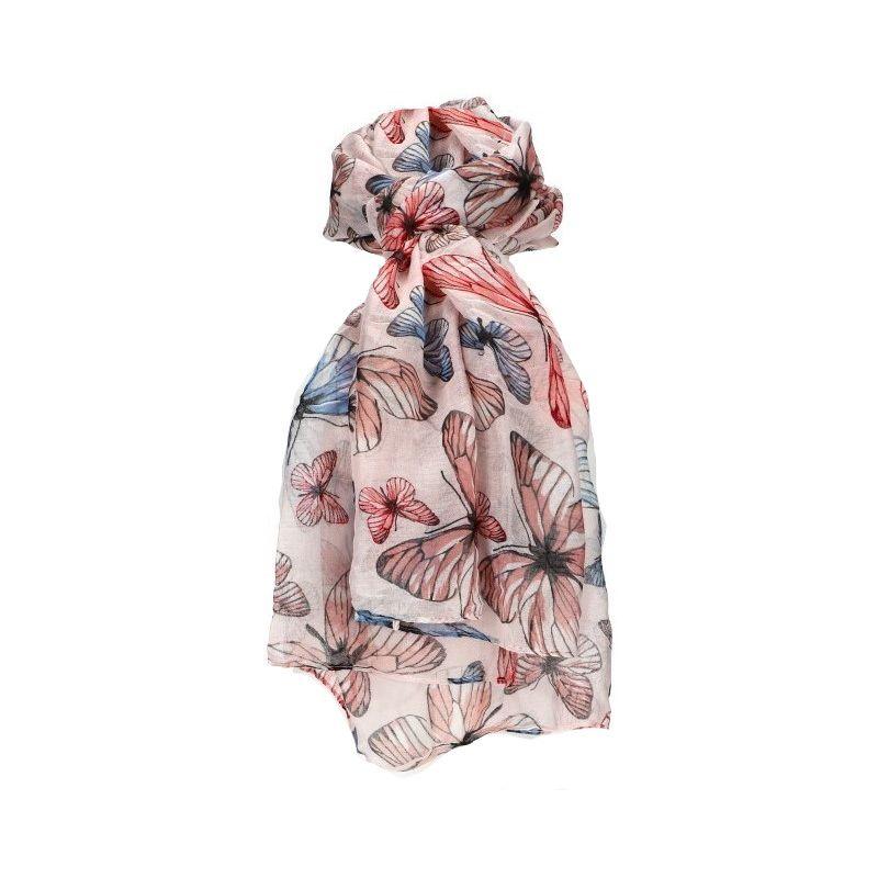 Dámský šátek růžový BUTTERFLY WD192 WD192_PK