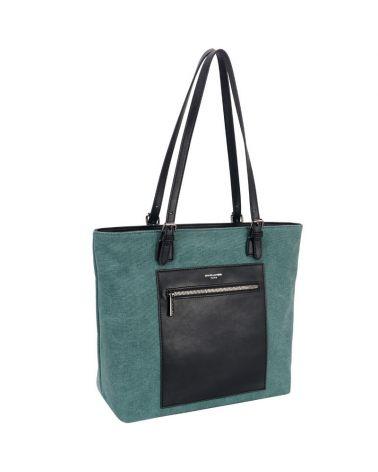 David Jones kabelka shopper HANDLE DETAIL zelená 6623 6623-GN