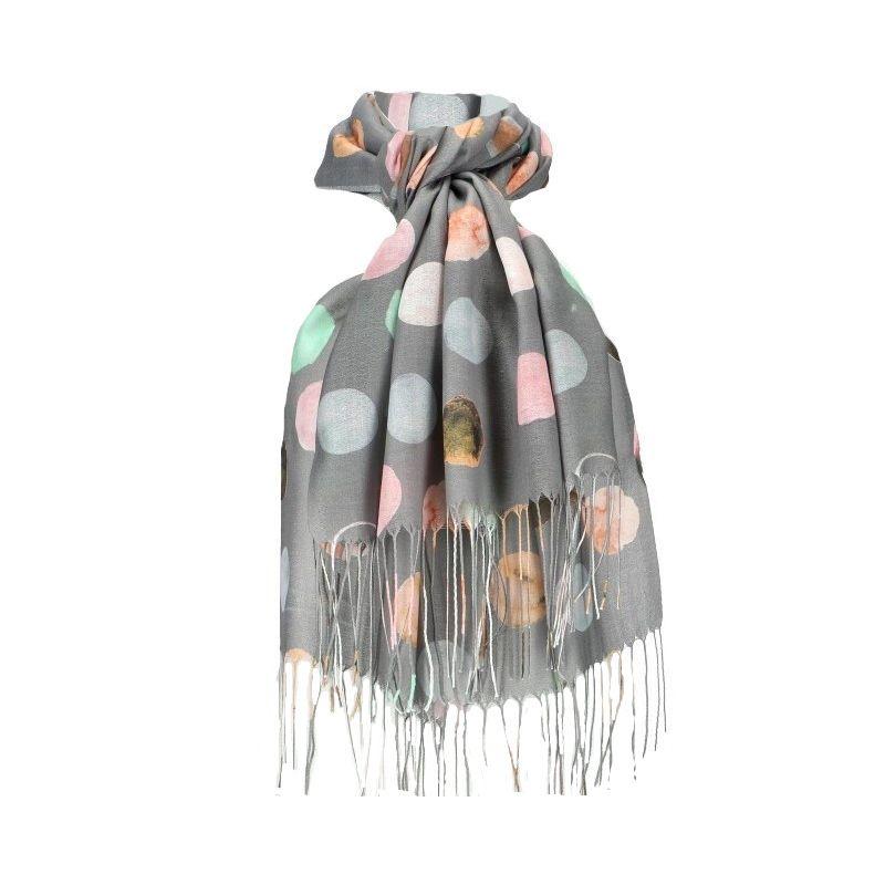 Dámský šátek šedý DOTTED 11038773_GY