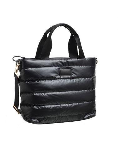 Paula Rossi kabelka shopper PUFF černá 6002 6002_BK