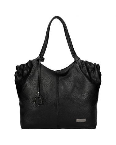 Valentina Madrid kabelka shopper velká černá 1240 VM1240_BK