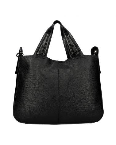 Valentina Madrid kabelka shopper velká černá A026 A026_BK