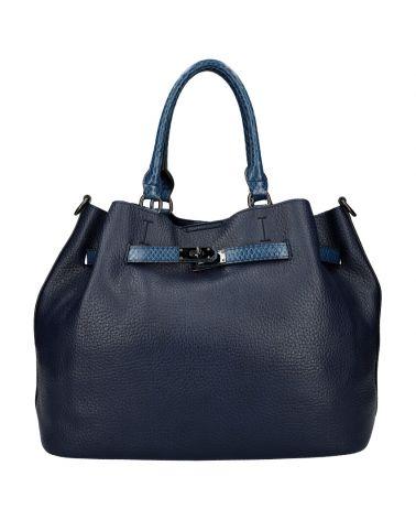 Valentina Madrid kabelka shopper velká tmavě modrá A019 A019_BE