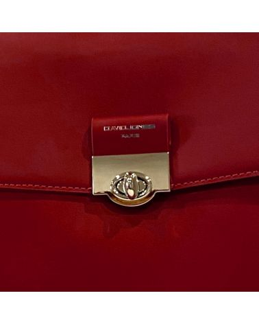 David Jones dámský batoh s klopou vínový 6630 6630-2_RD