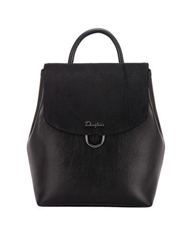 David Jones dámský batoh s klopou černý 6631 6631-3_BK