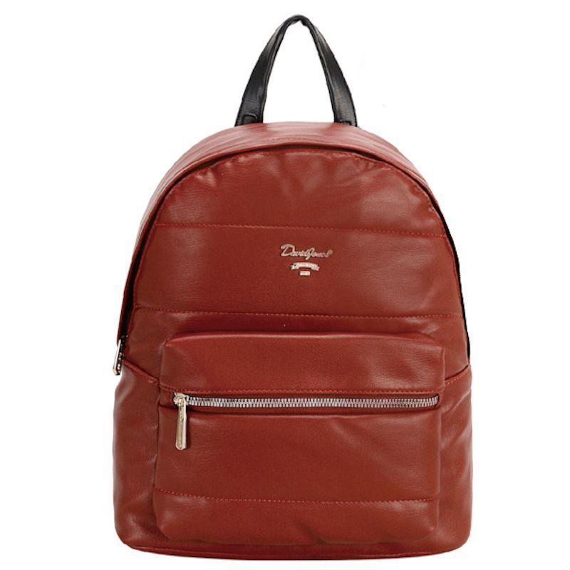 David Jones dámský batoh QUILTED cihlově červený 6608 6608-3_SI