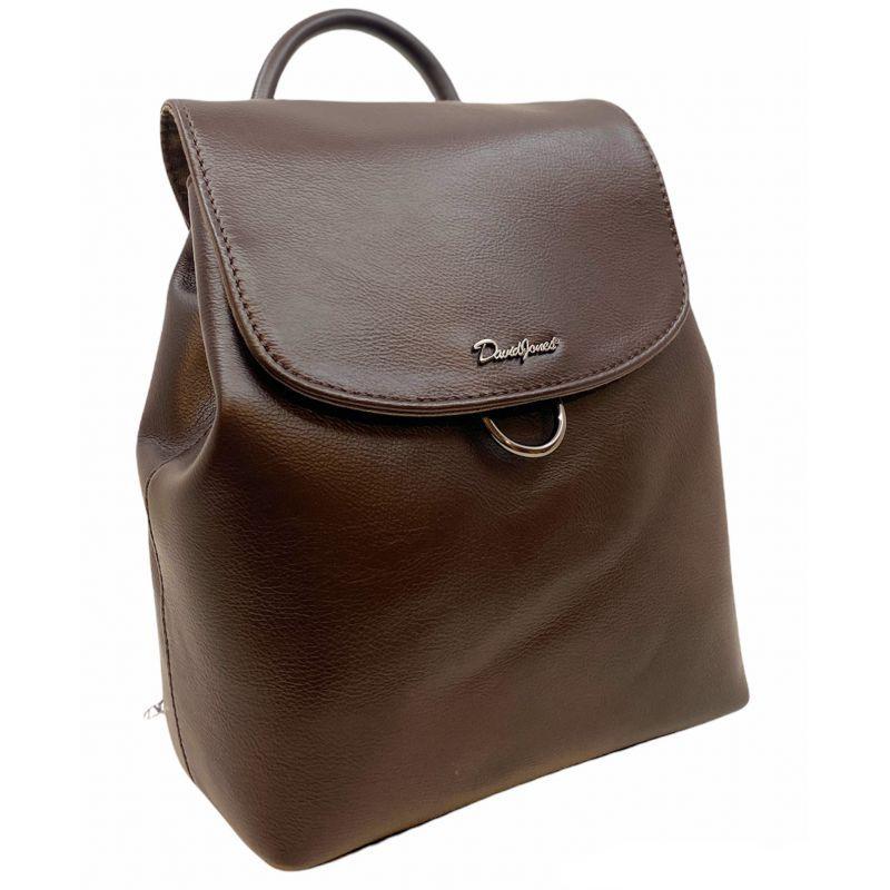 David Jones dámský batoh s klopou kávově hnědý 6631 6631-3_CE