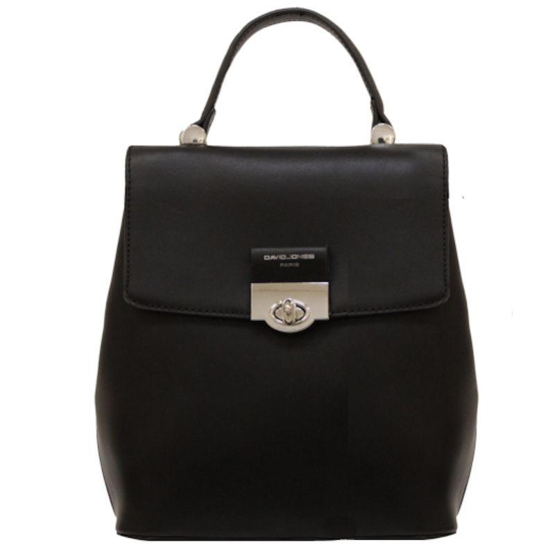 David Jones dámský batoh s klopou černý 6630 6630-2_BK