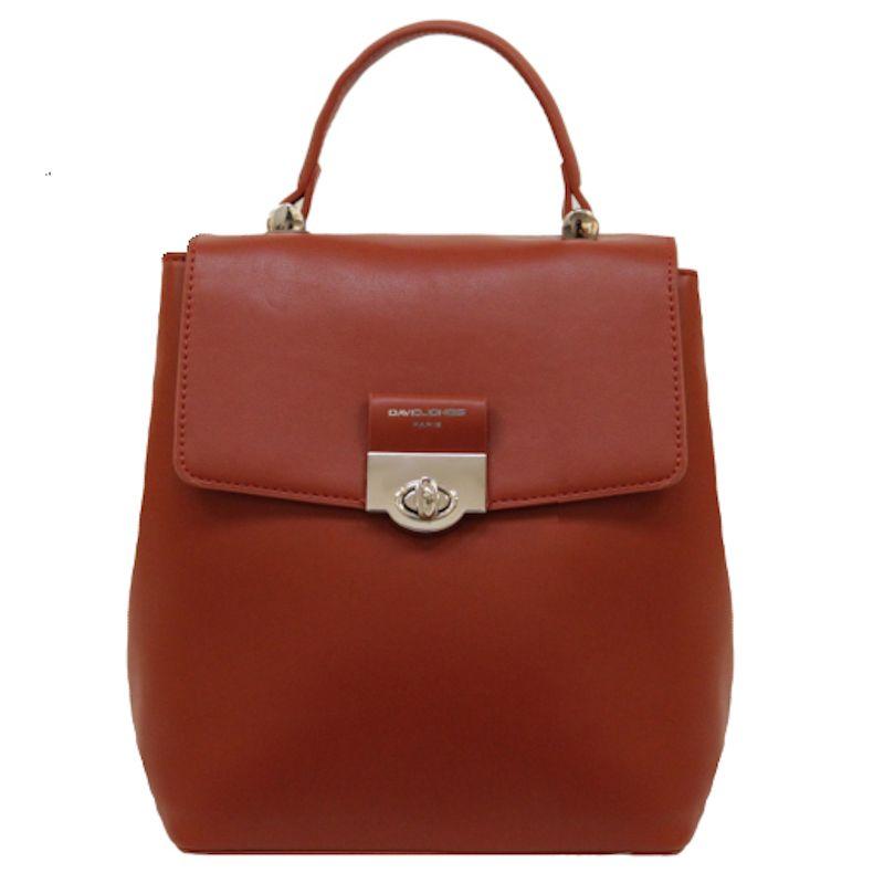 David Jones dámský batoh s klopou cihlově červený 6630 6630-2_SA