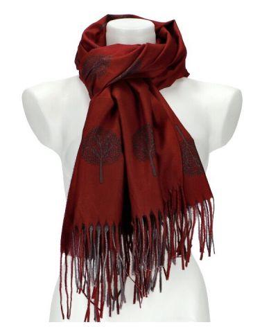 Dámský šátek TREE vínový WJ14412_RD