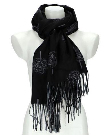 Dámský šátek TREE černý WJ14412_BK