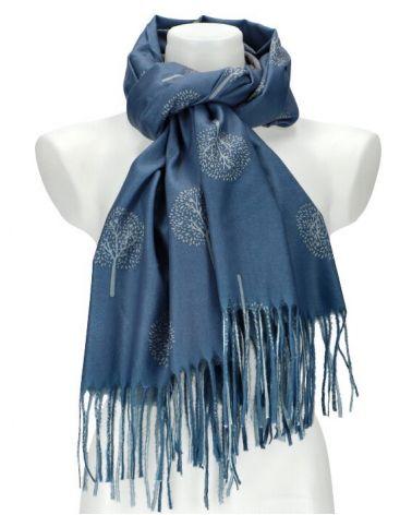 Dámský šátek TREE modrý WJ14412_BE