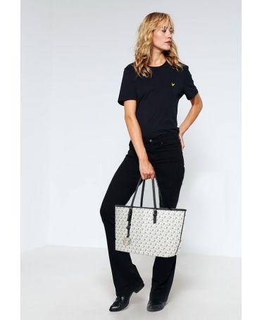 Anna Grace bílá kabelka tote velká s potiskem 297 AG00297P_WHITE1