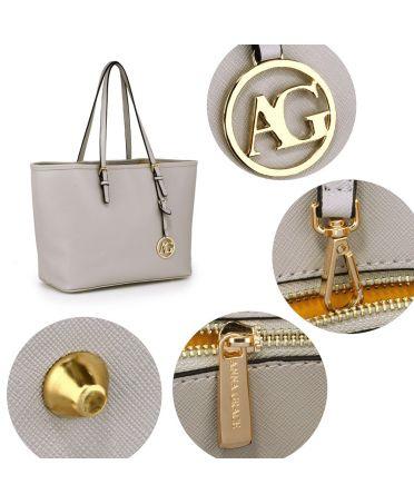 Anna Grace šedá kabelka tote velká 297 AG00297_GREY1