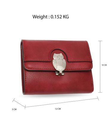 Anna Grace vínová peněženka motivem sovy AGP1102_BURGUNDY