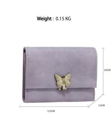Anna Grace fialová peněženka s kovovou sponou ve tvaru motýla AGP1103_PURPLE