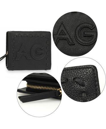 Anna Grace černá peněženka s logem AG AGP1105_BLACK