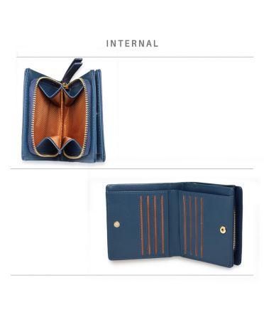Anna Grace modrá peněženka s logem AG 1105 AGP1105_NAVY