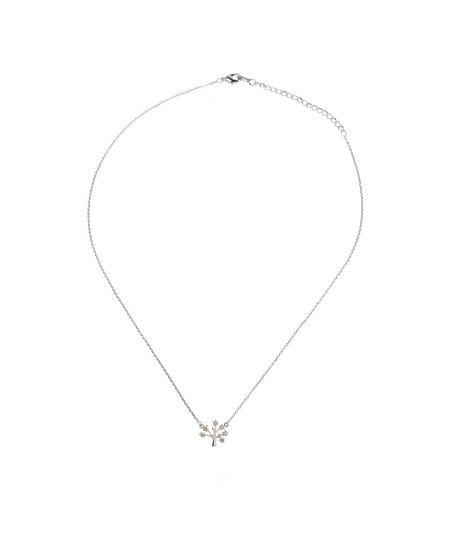 Anna Grace náhrdelník Sparkling Silver Plated Crystal Tree AGN0041_SILVER