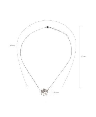 Anna Grace náhrdelník Sparkling Silver Plated Crystal Tree 44 AGN0044_SILVER